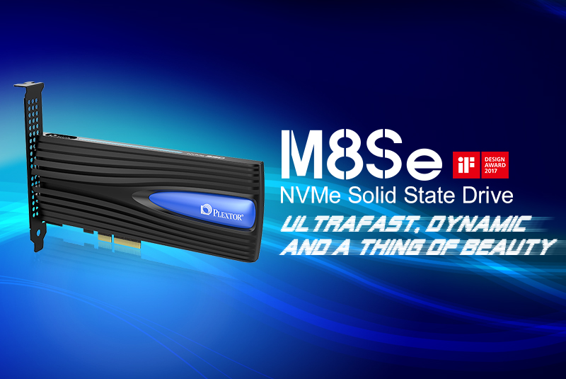 Plextor M8Se NVMe SSD wins iF Design Award 2017