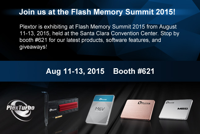 Plextor to Exhibit at Flash Memory Summit: Booth#621
